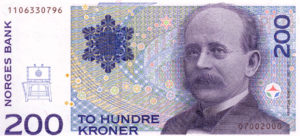Kristian Birkeland bank note front