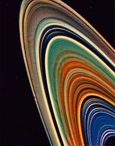 Saturn's rings (false colour)