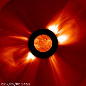 Solar flares (double)